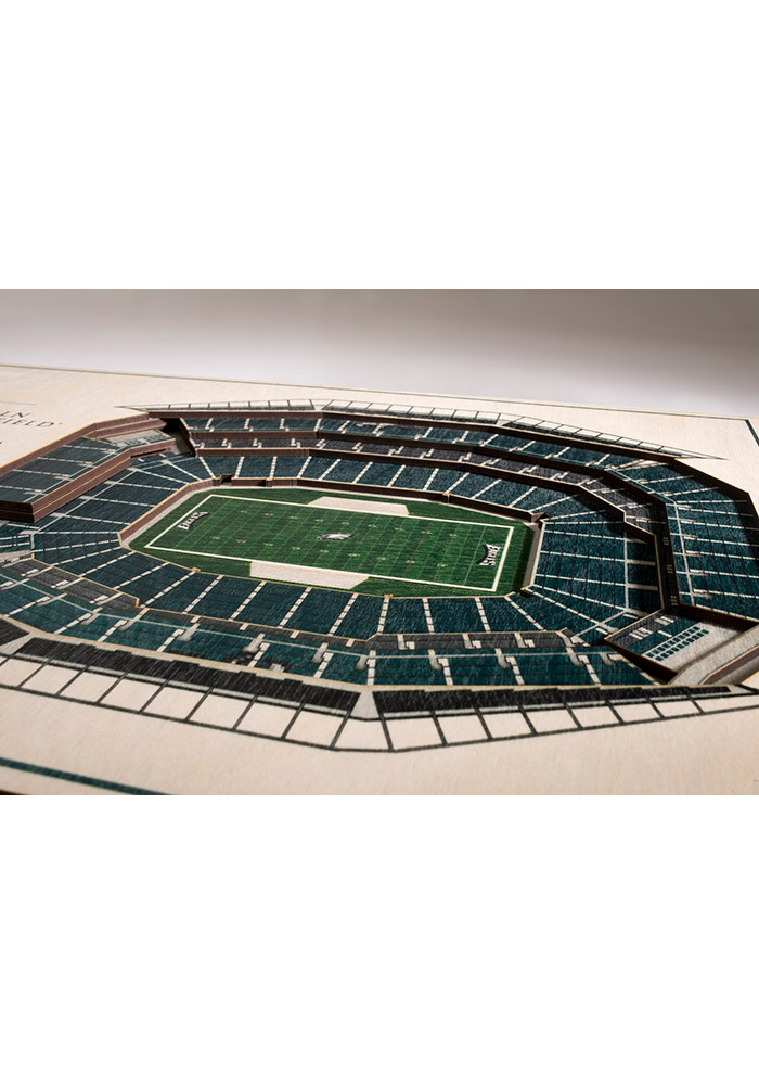 Philadelphia Eagles 5-Layer 3D Stadium View Wall Art - Image 2