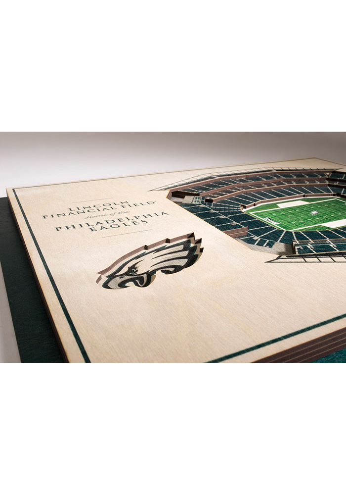 Philadelphia Eagles 5-Layer 3D Stadium View Wall Art - Image 3