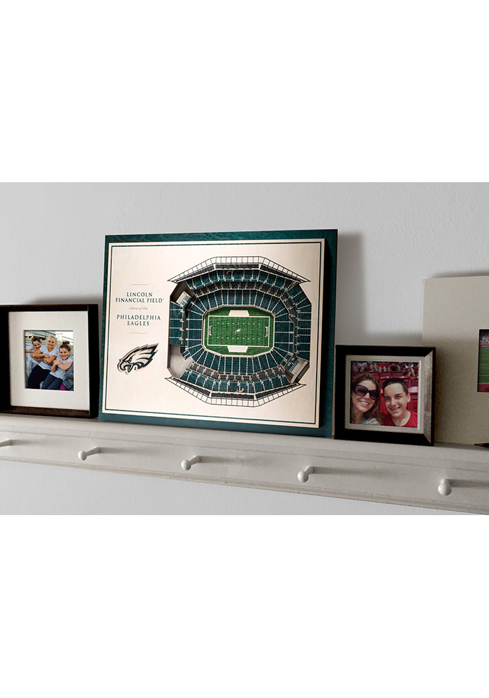 Philadelphia Eagles 5-Layer 3D Stadium View Wall Art - Image 4