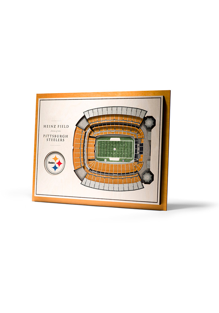 Pittsburgh Steelers 5-Layer 3D Stadium View Wall Art - Image 1