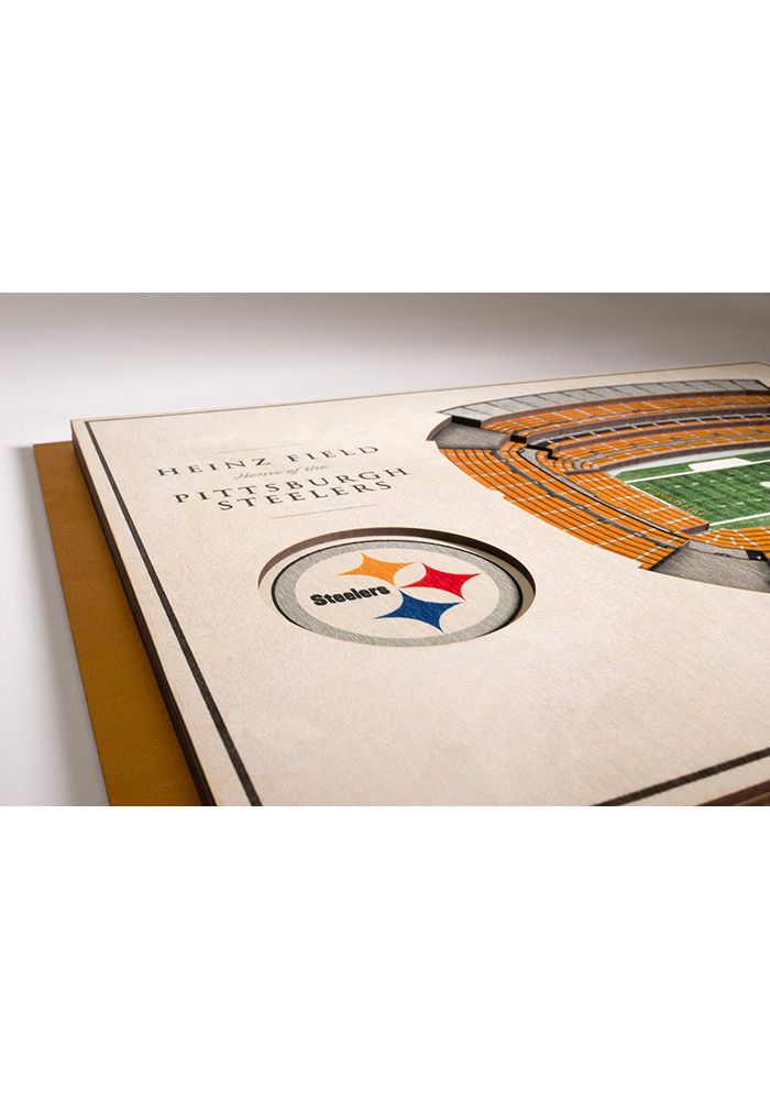 Pittsburgh Steelers 5-Layer 3D Stadium View Wall Art - Image 3