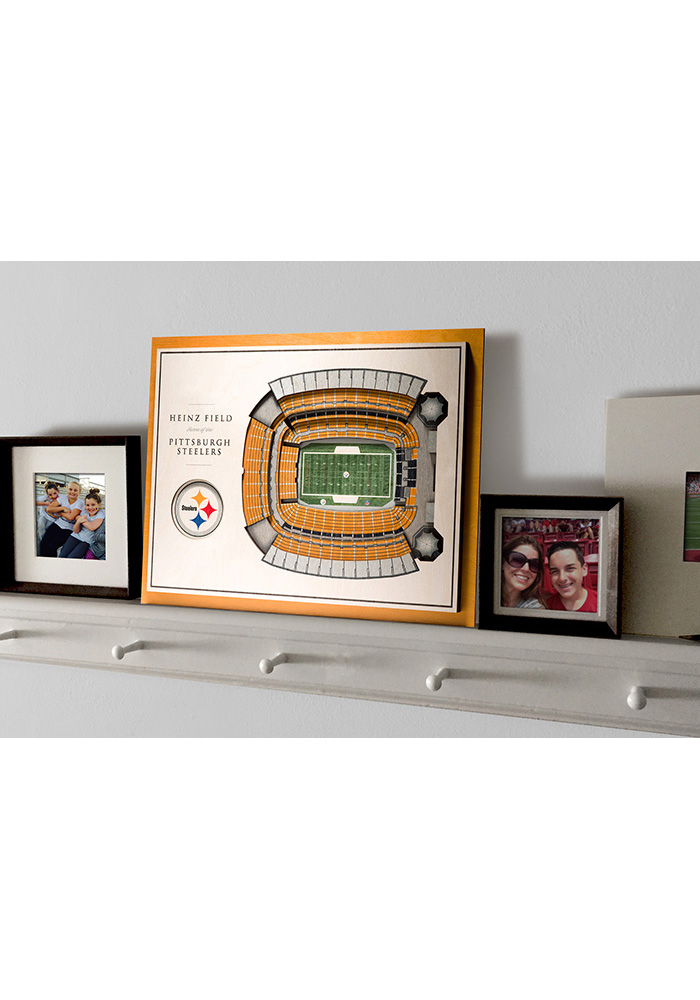 Pittsburgh Steelers 5-Layer 3D Stadium View Wall Art - Image 4