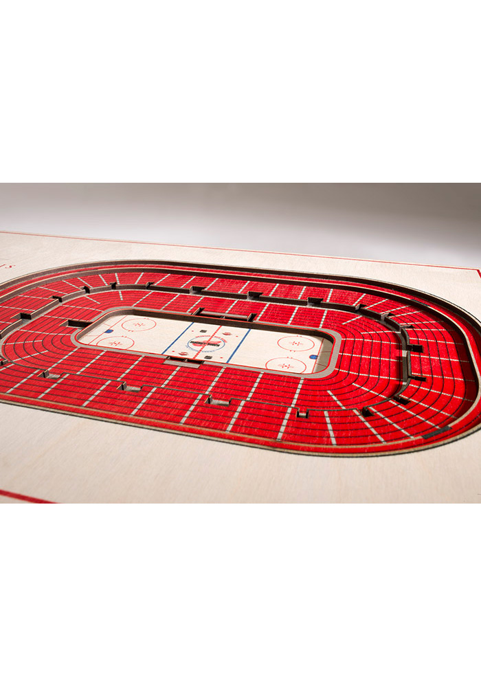 Detroit Red Wings 5-Layer 3D Stadium View Wall Art - Image 2