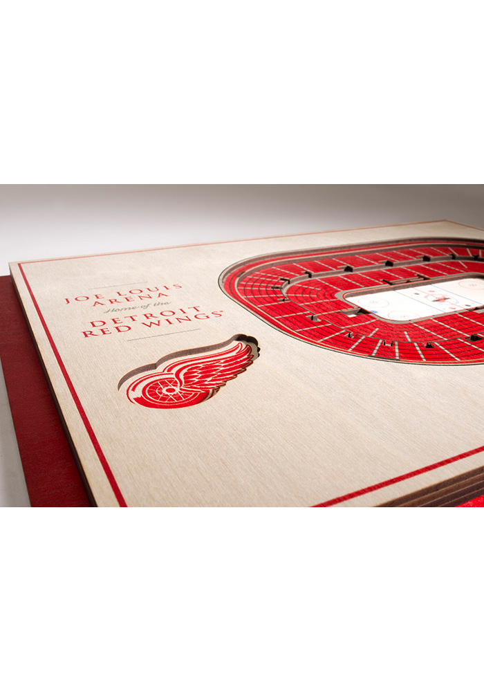 Detroit Red Wings 5-Layer 3D Stadium View Wall Art - Image 3