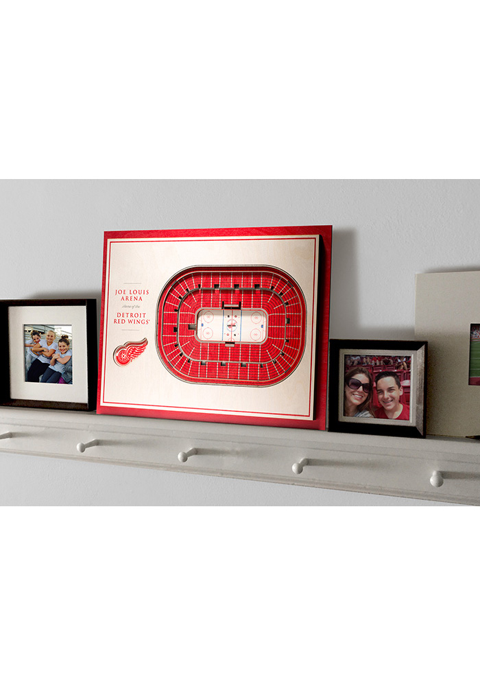 Detroit Red Wings 5-Layer 3D Stadium View Wall Art - Image 4
