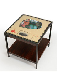 Boston Red Sox 25-Layer Lighted StadiumView Brown End Table
