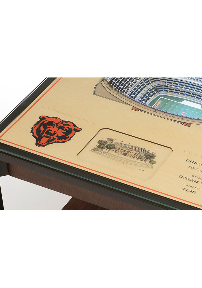 Chicago Bears 25-Layer Lighted StadiumView Brown End Table - Image 4