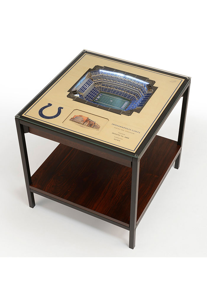 Indianapolis Colts 25-Layer Lighted StadiumView Brown End Table - Image 1
