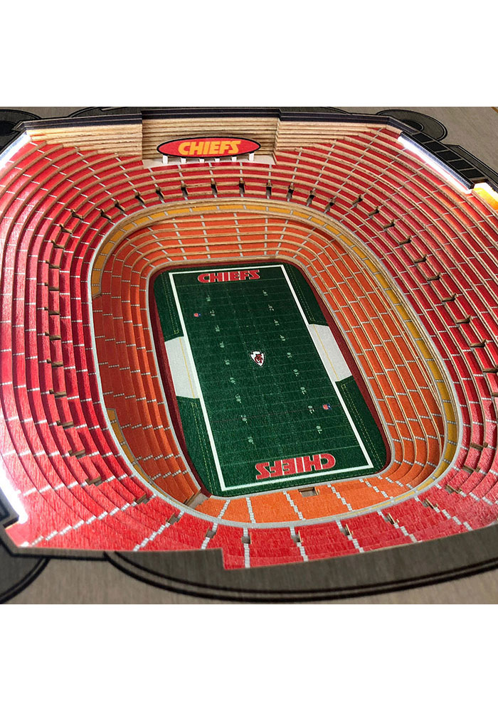 Kansas City Chiefs 25-Layer Lighted StadiumView Brown End Table - Image 3