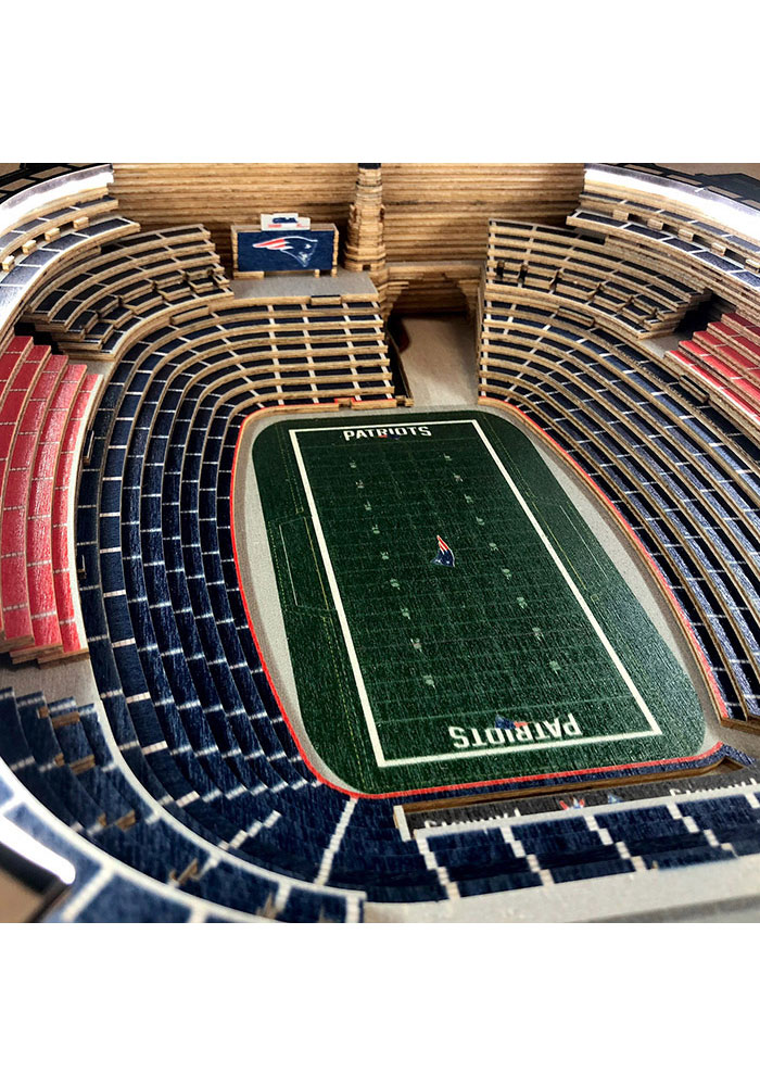 New England Patriots 25-Layer Lighted StadiumView Brown End Table - Image 3