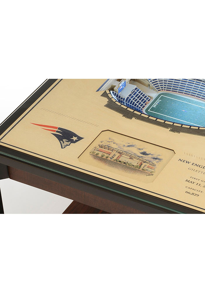 New England Patriots 25-Layer Lighted StadiumView Brown End Table - Image 4