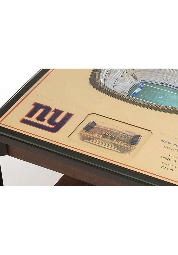 New York Giants 25-Layer Lighted StadiumView Brown End Table - Image 4