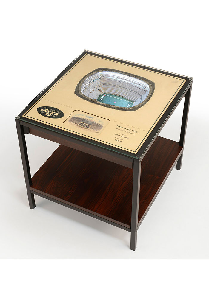 New York Jets 25-Layer Lighted StadiumView Brown End Table - Image 1
