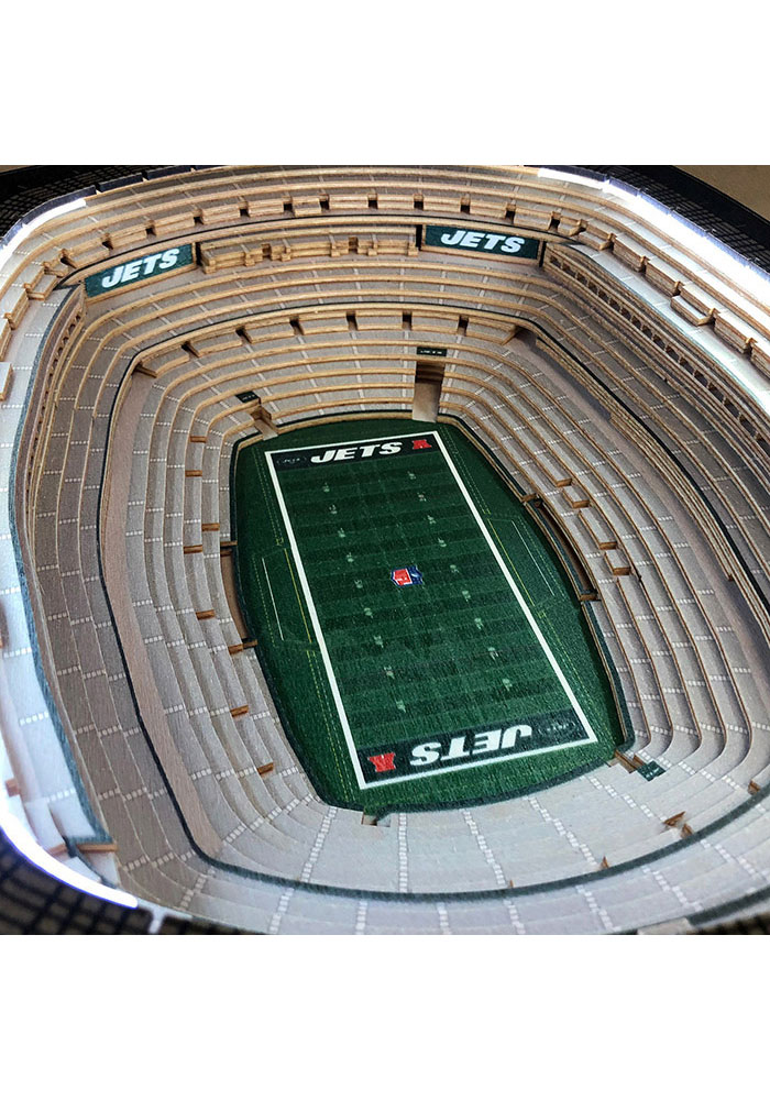 New York Jets 25-Layer Lighted StadiumView Brown End Table - Image 3