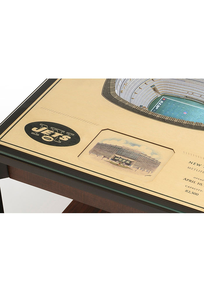 New York Jets 25-Layer Lighted StadiumView Brown End Table - Image 4