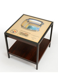 Pittsburgh Steelers 25-Layer Lighted StadiumView Brown End Table