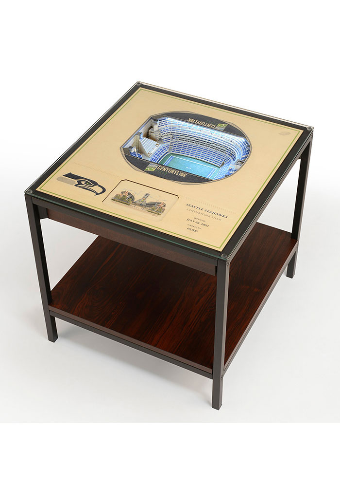 Seattle Seahawks 25 Layer Lighted Stadiumview Brown End Table 6860307