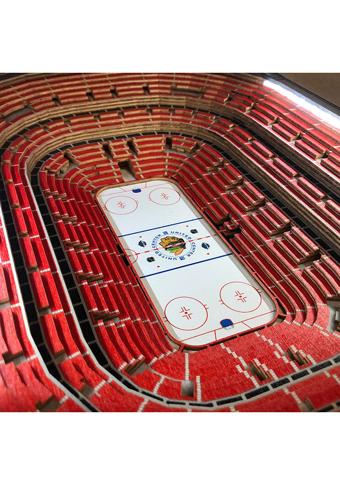 Chicago Blackhawks 25-Layer Lighted StadiumView Brown End Table - Image 3