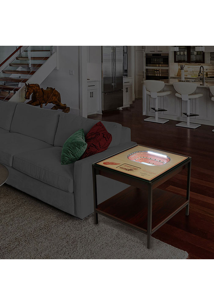 Detroit Red Wings 25-Layer Lighted StadiumView Brown End Table - Image 2