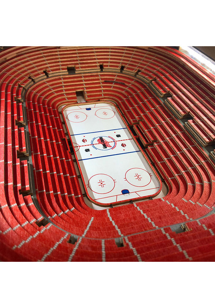 Detroit Red Wings 25-Layer Lighted StadiumView Brown End Table - Image 3