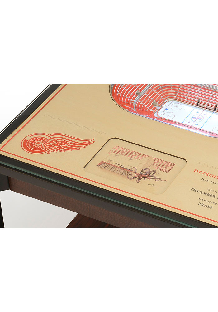 Detroit Red Wings 25-Layer Lighted StadiumView Brown End Table - Image 4