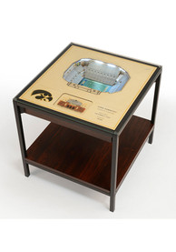 Iowa Hawkeyes 25-Layer Lighted StadiumView Brown End Table