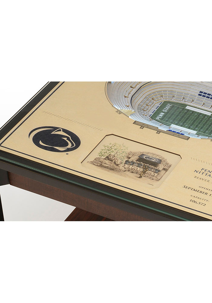 Penn State Nittany Lions 25-Layer Lighted StadiumView Brown End Table - Image 4