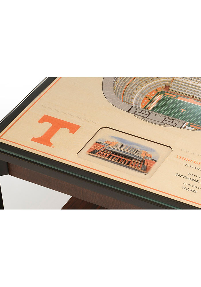 Tennessee Volunteers 25-Layer Lighted StadiumView Brown End Table - Image 4