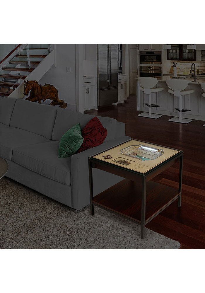 Texas A&M Aggies 25-Layer Lighted StadiumView Brown End Table - Image 2