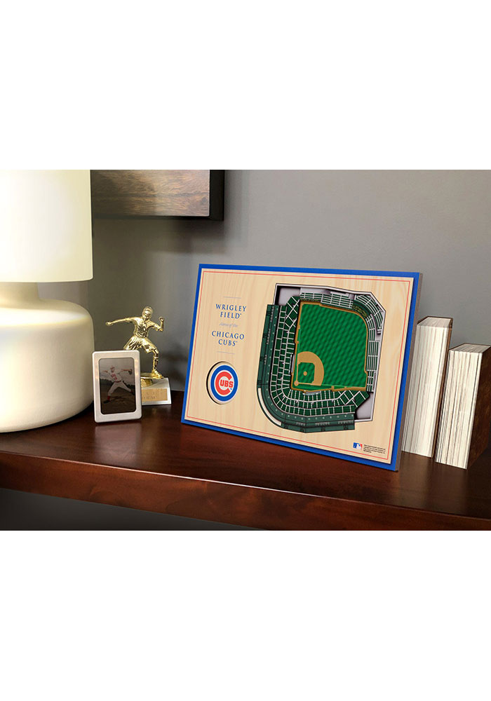 Chicago Cubs 3D Desktop Stadium View Blue Desk Accessory - Image 1
