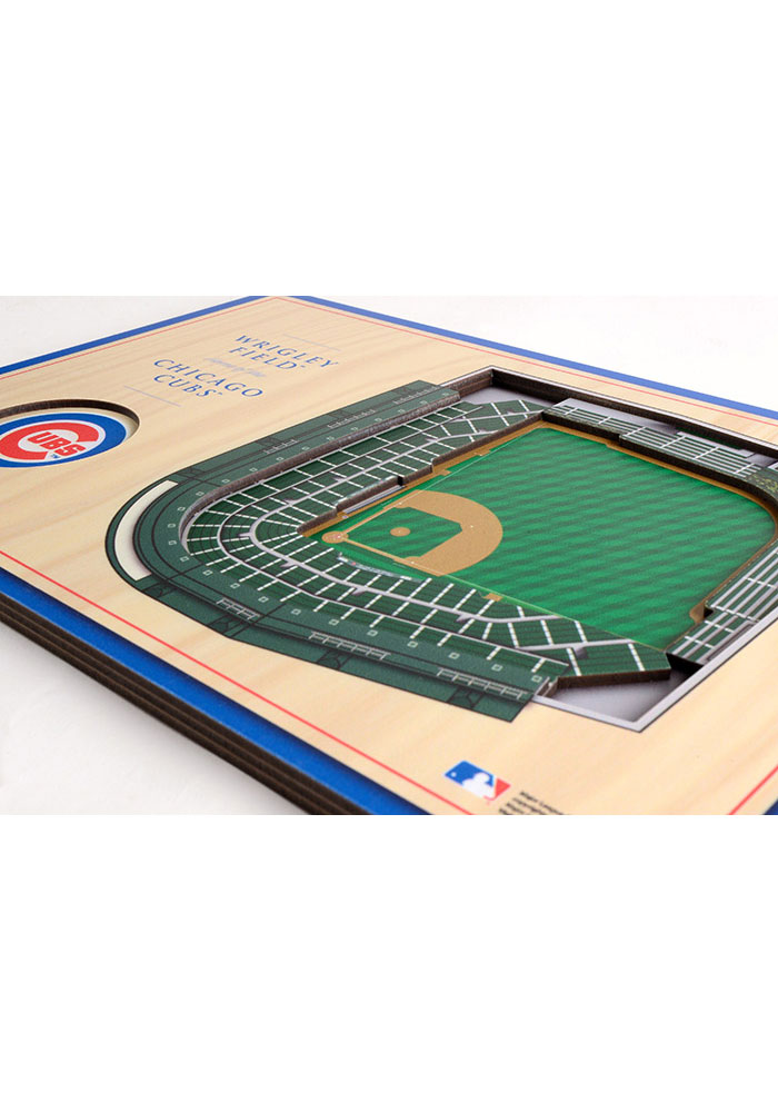 Chicago Cubs 3D Desktop Stadium View Blue Desk Accessory - Image 2