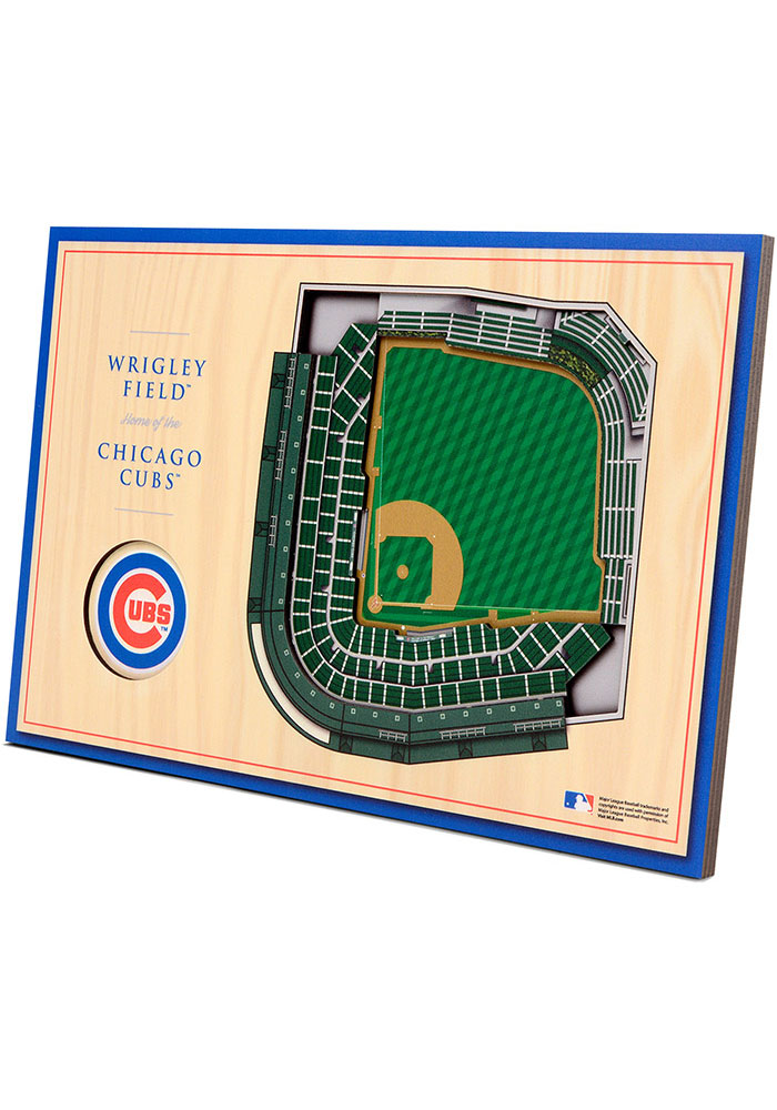 Chicago Cubs 3D Desktop Stadium View Blue Desk Accessory - Image 4