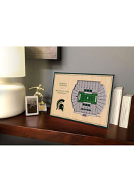 Magnificent Michigan State Spartans 3D Desktop Stadium View Green Desk Accessory Home Interior And Landscaping Palasignezvosmurscom