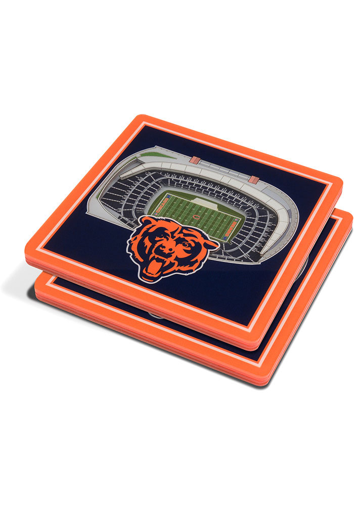 Chicago Bears 3D Stadium View Coaster - Image 1