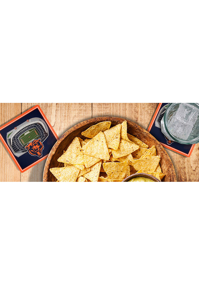 Chicago Bears 3D Stadium View Coaster - Image 2