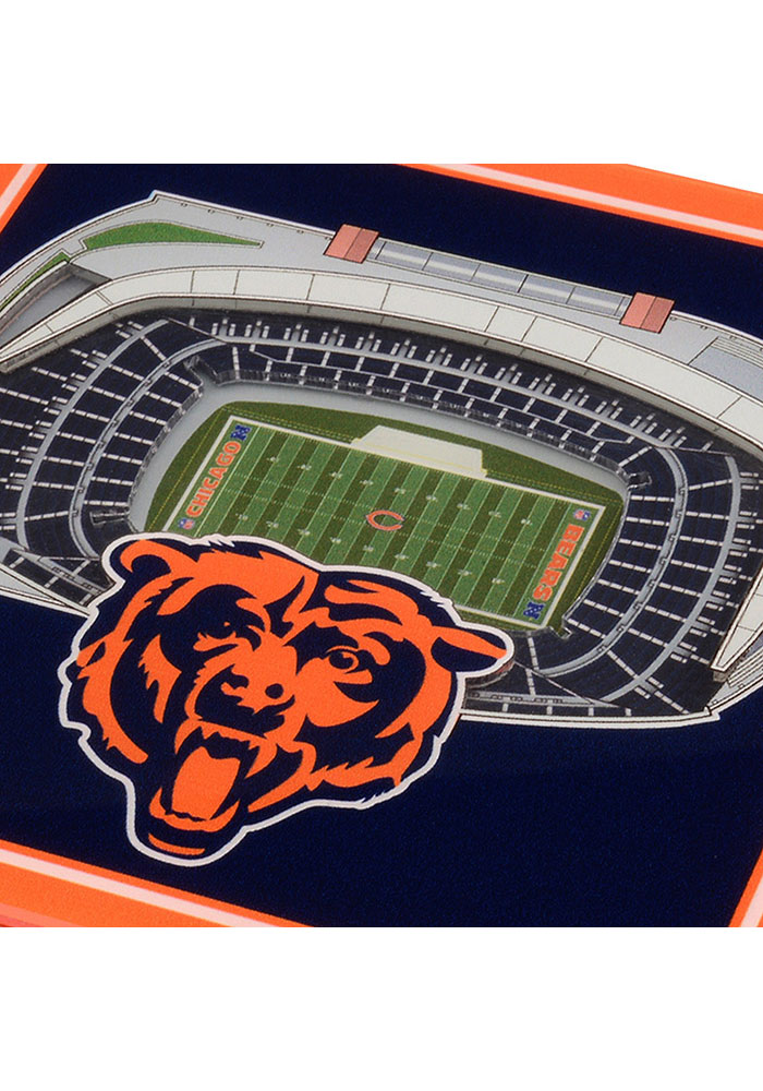 Chicago Bears 3D Stadium View Coaster - Image 3