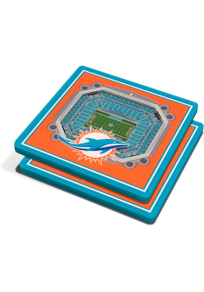 Miami Dolphins 3D Stadium View Coaster - Image 1