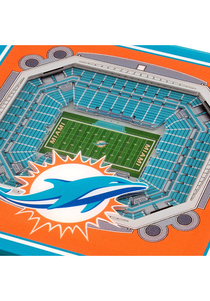 Miami Dolphins 3D Stadium View Coaster - Image 3