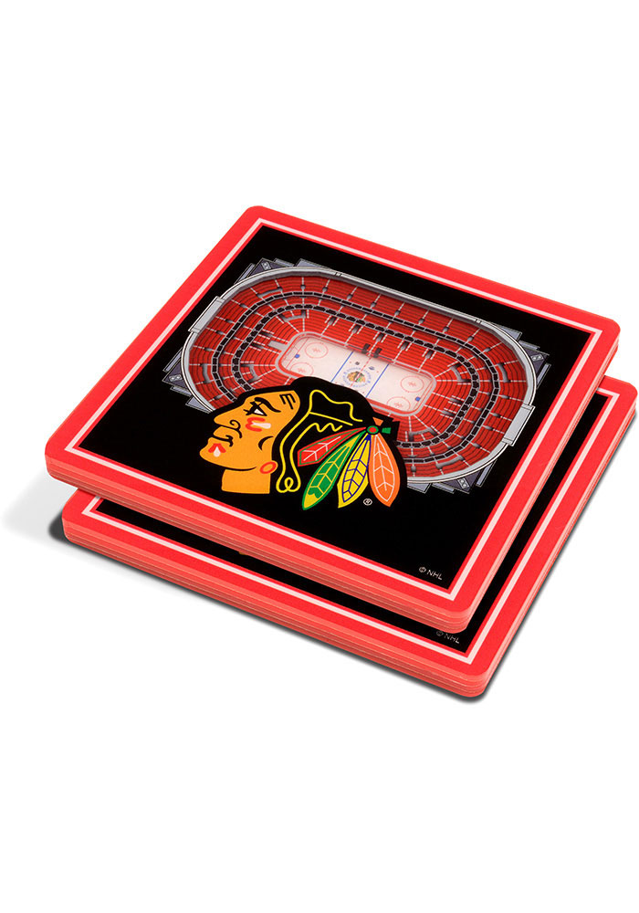 Chicago Blackhawks 3D Stadium View Coaster - Image 1