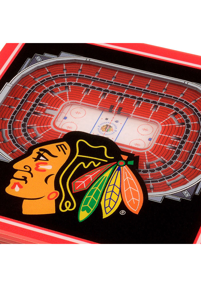 Chicago Blackhawks 3D Stadium View Coaster - Image 2