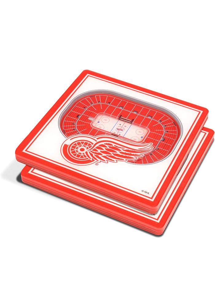 Detroit Red Wings 3D Stadium View Coaster - Image 1