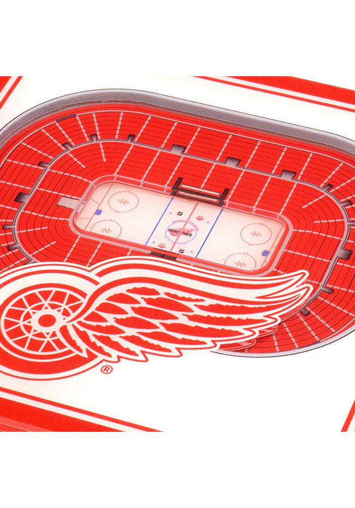 Detroit Red Wings 3D Stadium View Coaster - Image 2