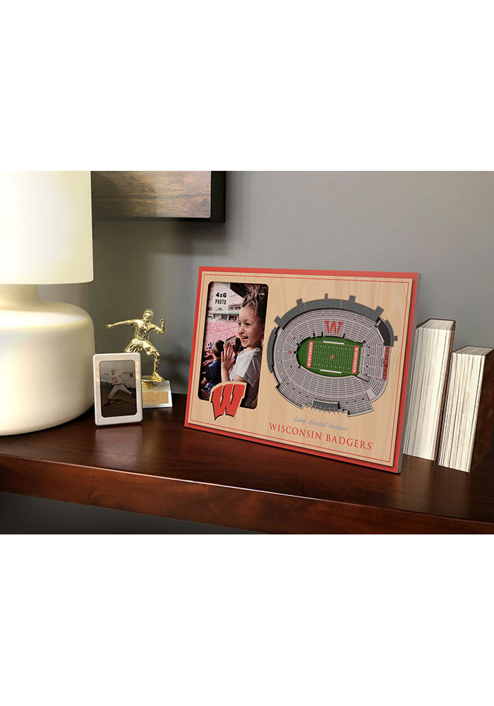Wisconsin Badgers Stadium View 4x6 Picture Frame - Image 1