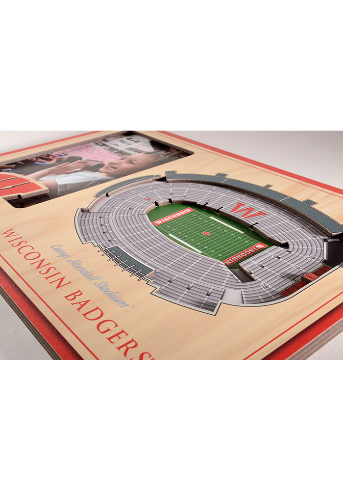 Wisconsin Badgers Stadium View 4x6 Picture Frame - Image 3
