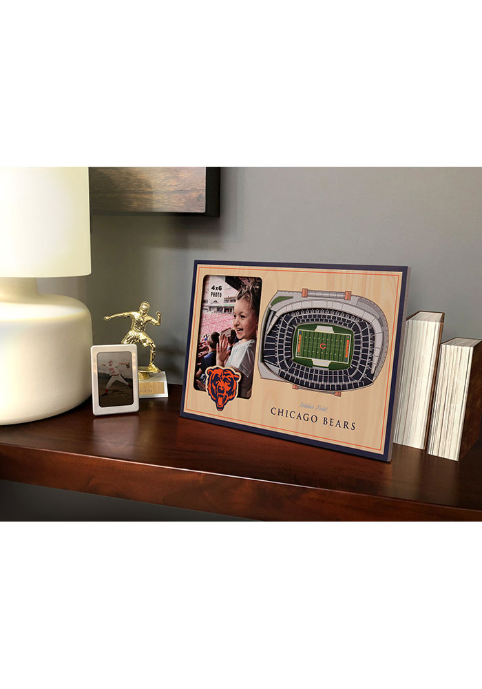 Chicago Bears Stadium View 4x6 Picture Frame - Image 1