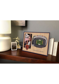 Chicago Bears Stadium View 4x6 Picture Frame