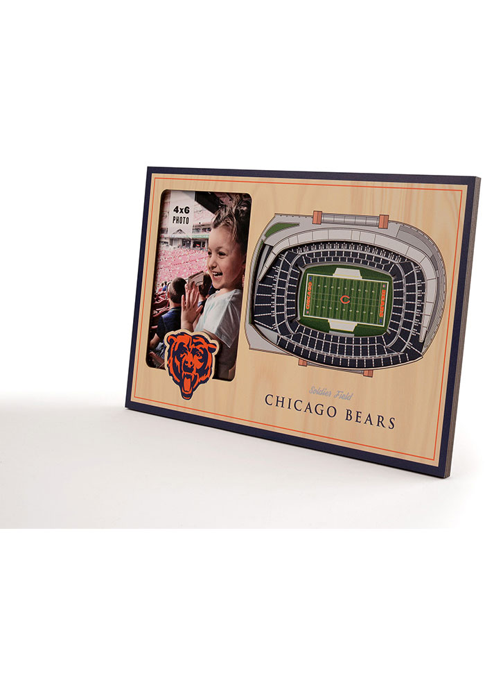Chicago Bears Stadium View 4x6 Picture Frame - Image 2