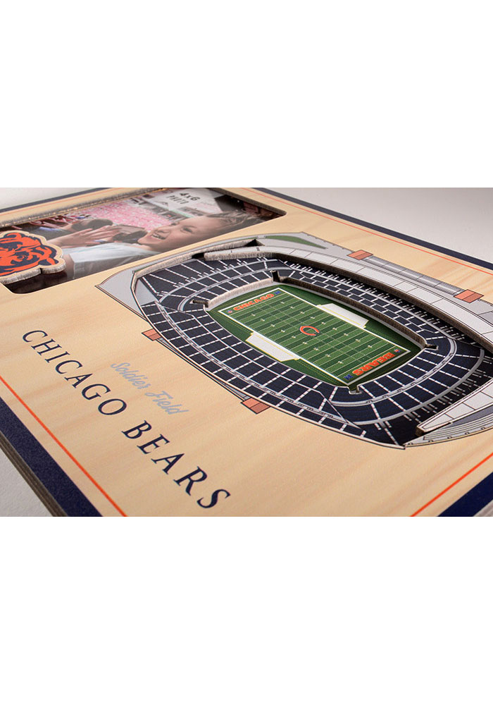 Chicago Bears Stadium View 4x6 Picture Frame - Image 3