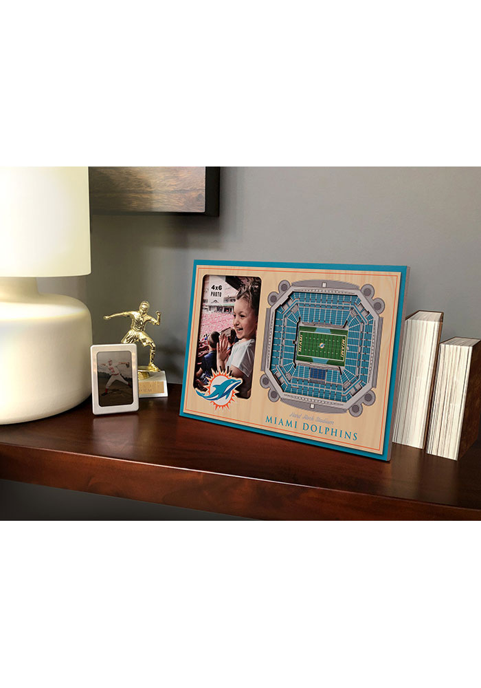 Miami Dolphins Stadium View 4x6 Picture Frame - Image 1