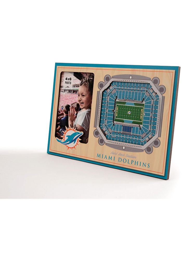 Miami Dolphins Stadium View 4x6 Picture Frame - Image 2